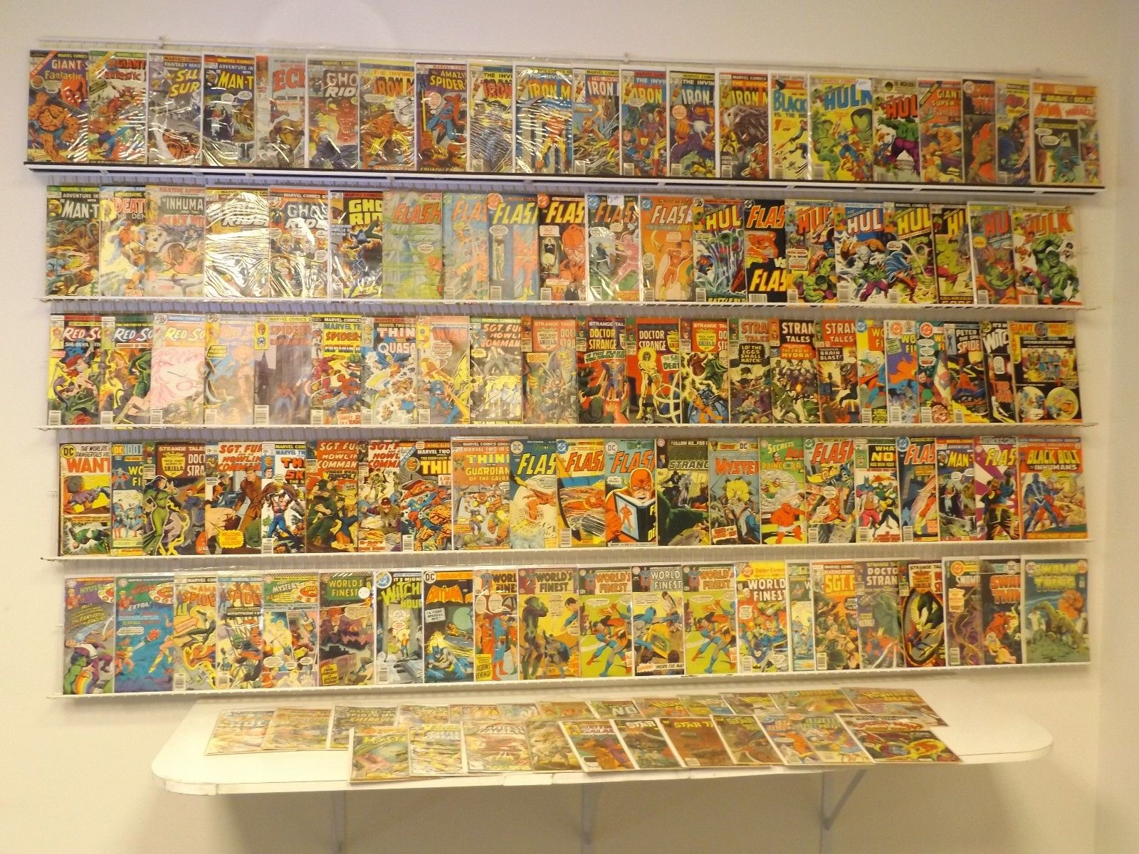 Lot of 120+ Silver/Bronze comics Hulk, Iron Man, Flash & more