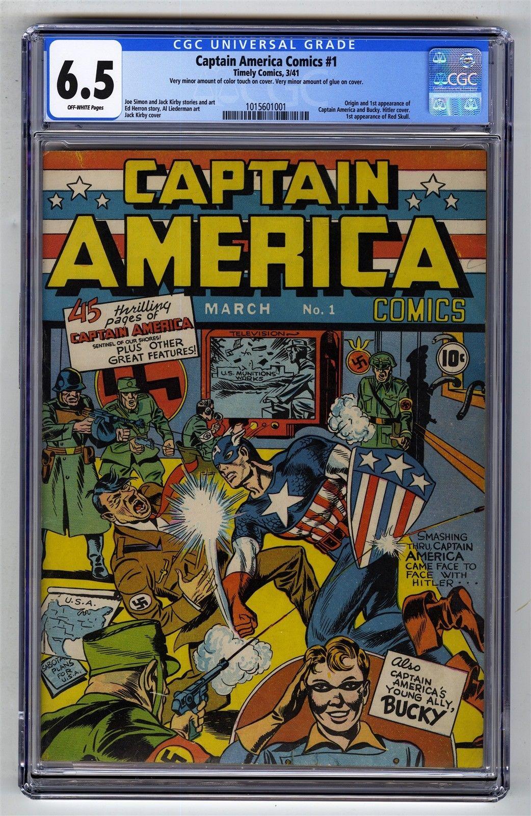 Captain America Comics #1 CGC 6.5 Timely Comic MEGA KEY 1st Cap Red Skull Bucky