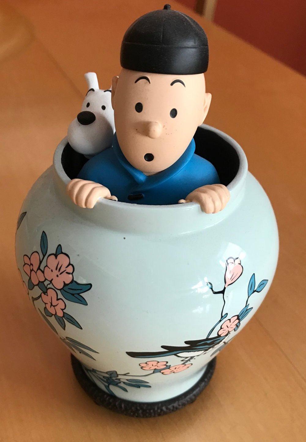 Tim & Struppi in Tibet Figurine Keramik Tintin et Milou Hergé Moulinsart Figur