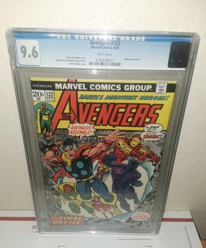 AVENGERS #122 CGC 9.6 Zodiac App, Final Battle. Thor, Iron Man, Black Panther