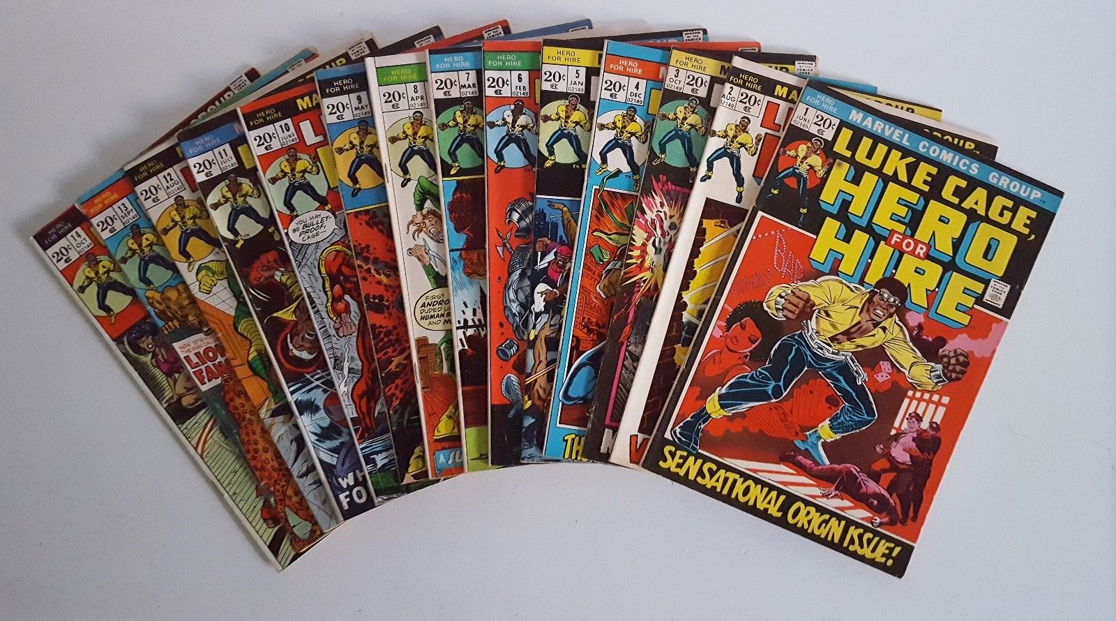 Luke Cage, Hero for Hire #1-14 (1972-1973, Marvel) 14 issue lot.