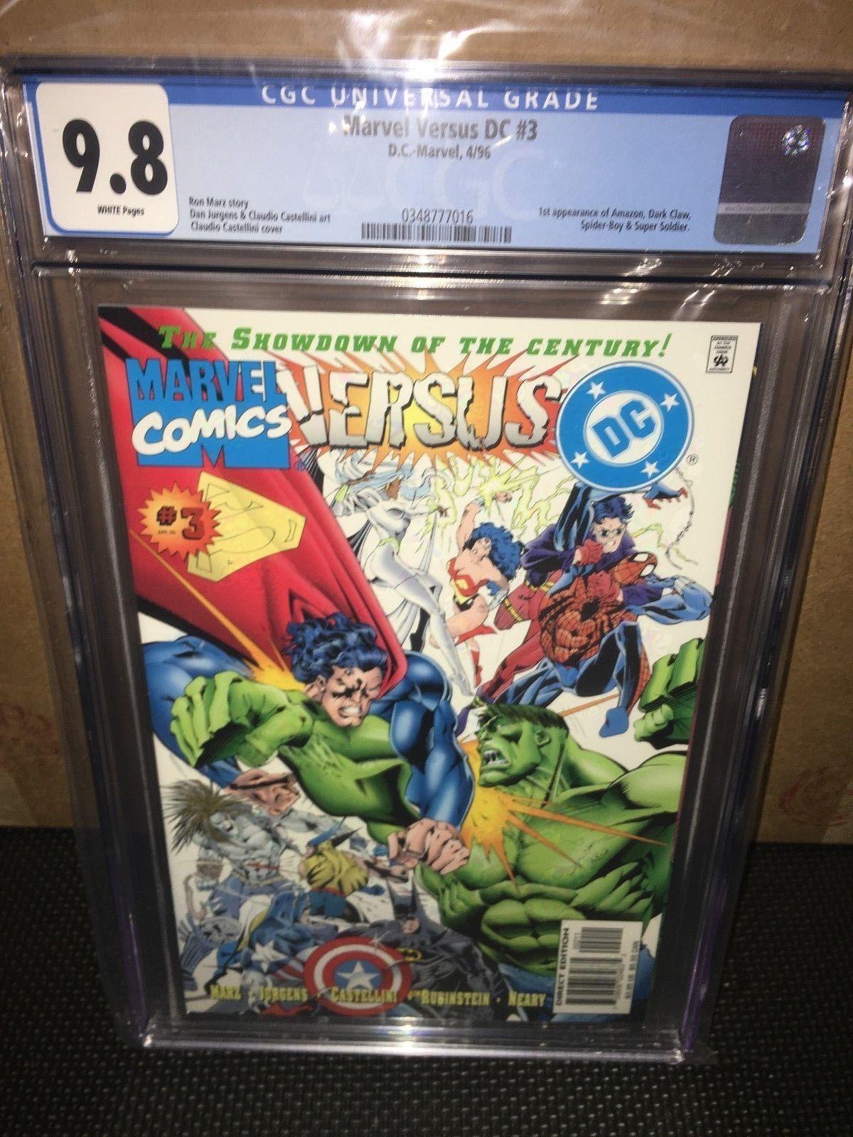 MARVEL versus DC #3 CGC 9.8 White pgs Justice League X-Men HIGHEST GRADED