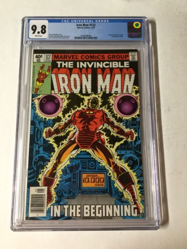 Invincible Iron Man 122 Cgc 9.8 White Pages