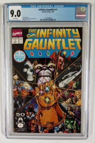 The Infinity Gauntlet #1, CGC 9.0 - Thanos Iron Man Avengers Spiderman 55 300 50