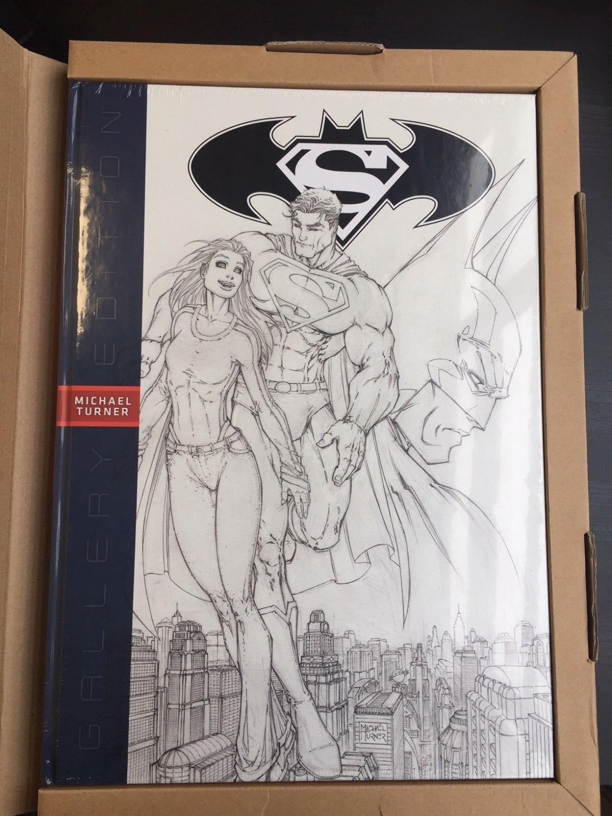 SUPERMAN BATMAN MICHAEL TURNER GALLERY EDITION OVER-SIZED HARDCOVER New Hardback