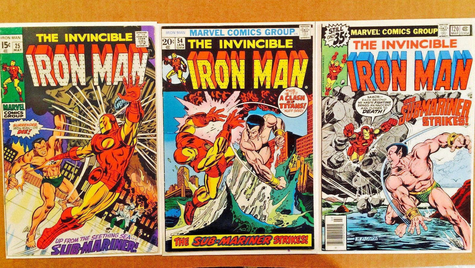 IRON MAN LOT OF 3 BRONZE-AGE COMICS #25-#54-#120