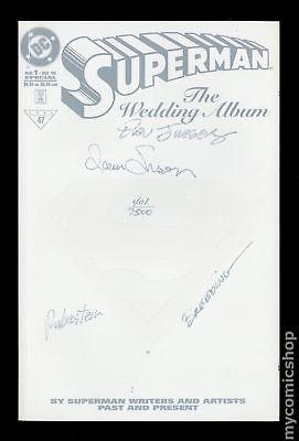Superman The Wedding Album 1DDFSIGNED 1996 White DF Signed Variant VF- 7.5