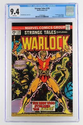 Strange Tales #178 -NEAR MINT- CGC 9.4 NM -Marvel 1975- ORIGIN of Warlock