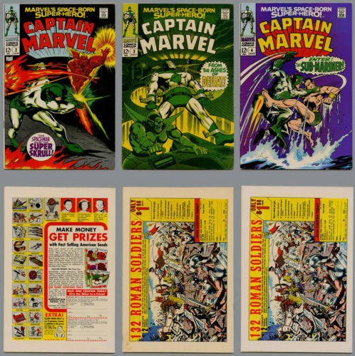CAPTAIN MARVEL LOT 21 COMICS FROM #2 THROUGH #57 STARLIN THANOS MVS INTACT FINE-