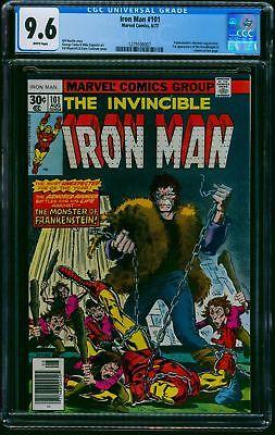 Iron Man #101 CGC NM+ 9.6 White Pages