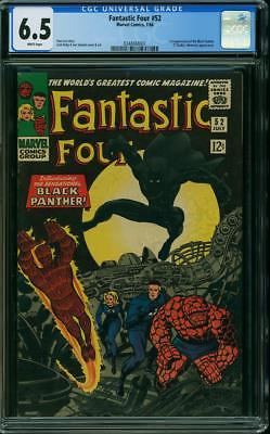 Fantastic Four # 52 CGC 6.5 First Black PantherWhite Pages Bold Color Strike