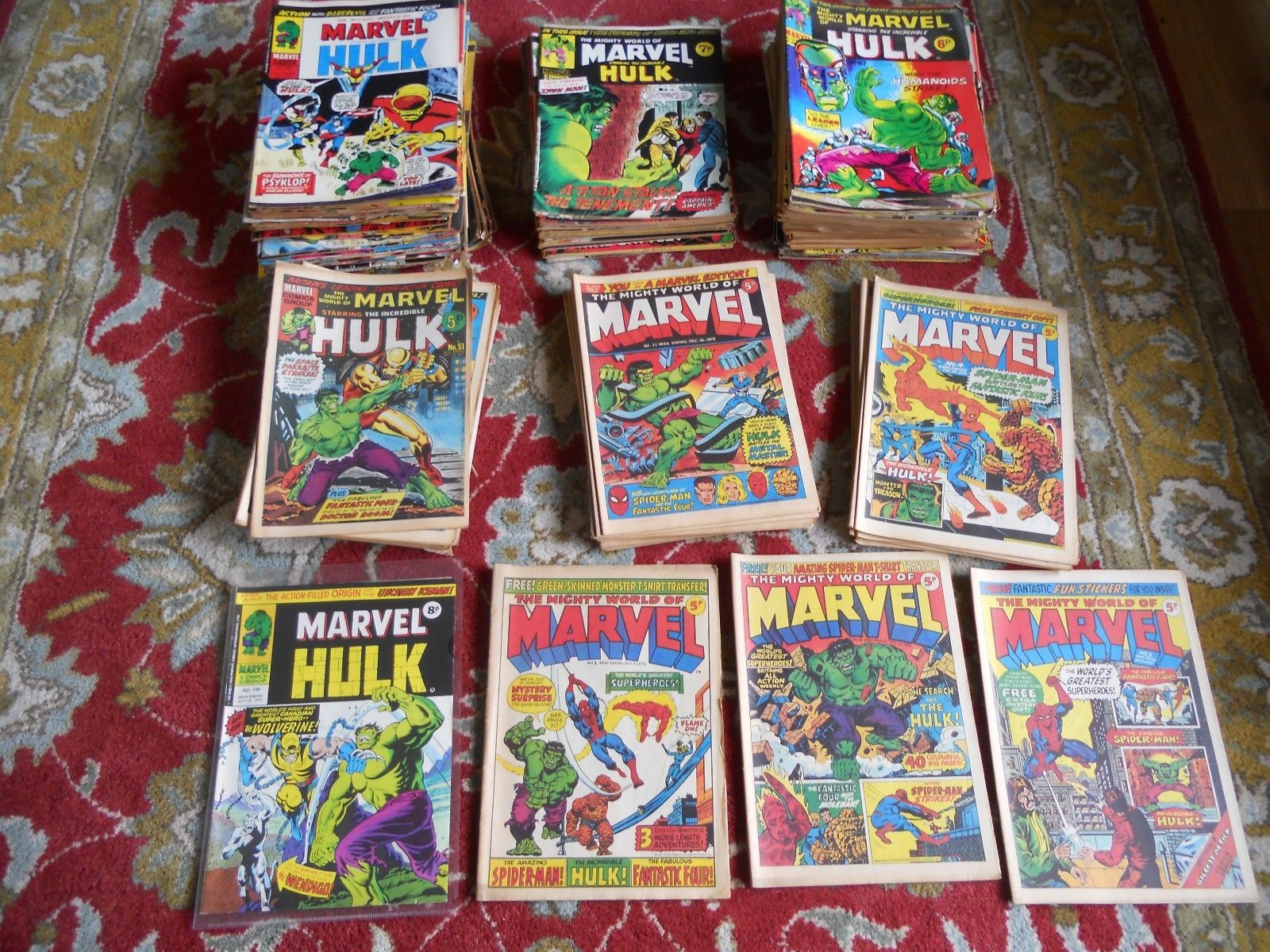 The Mighty World of Marvel Hulk # 1 - 198 1st Wolverine (181) lot 180 comics