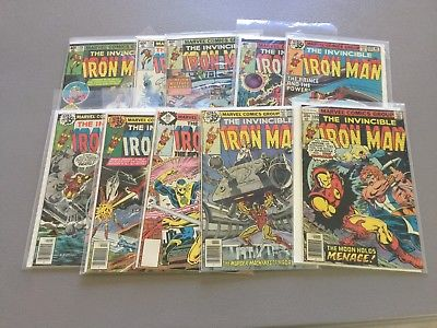 Iron Man Lot 8--Issues 109,116,117,119,120,121,122,123,124,125