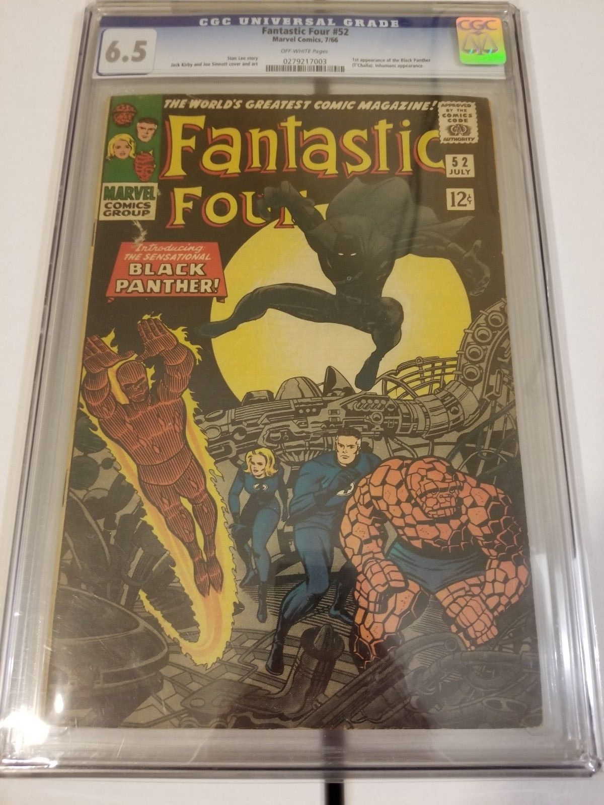 FANTASTIC FOUR #52 CGC 6.5 MARVEL 1966   1ST BLACK PANTHER T'CHALLA
