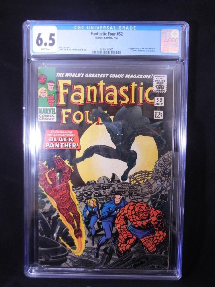 Fantastic Four #52    CGC Graded 6.5    White Pages     1st Black Panther