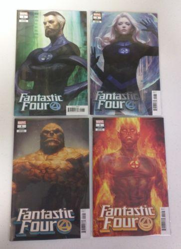 Fantastic Four #1 Stanley Lau Artgerm Variant 4 Cover Set Marvel 2018 VF/NM 9.0