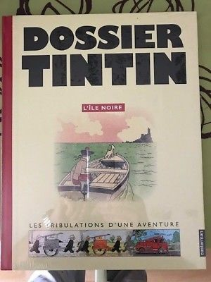TINTIN DOSSIER L'ILE NOIRE Neuf  GRD FORMAT 29x37cm HERGE EO 2005