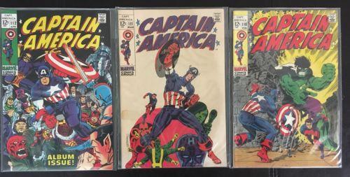 Captain America Lot Silver Age #110, 111, 112, 114, 115, 116, 118, 119-133