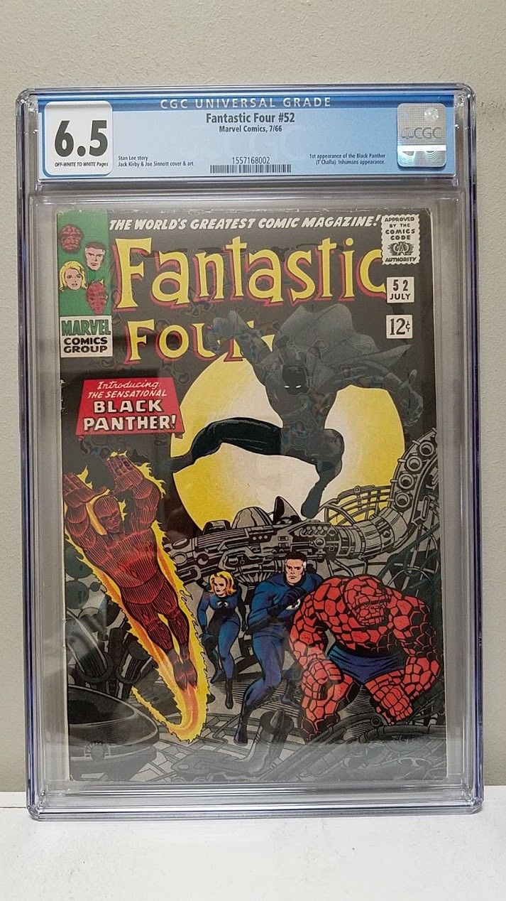 FANTASTIC FOUR #52 CGC 6.5 1st BLACK PANTHER STAN LEE & JACK KIRBY