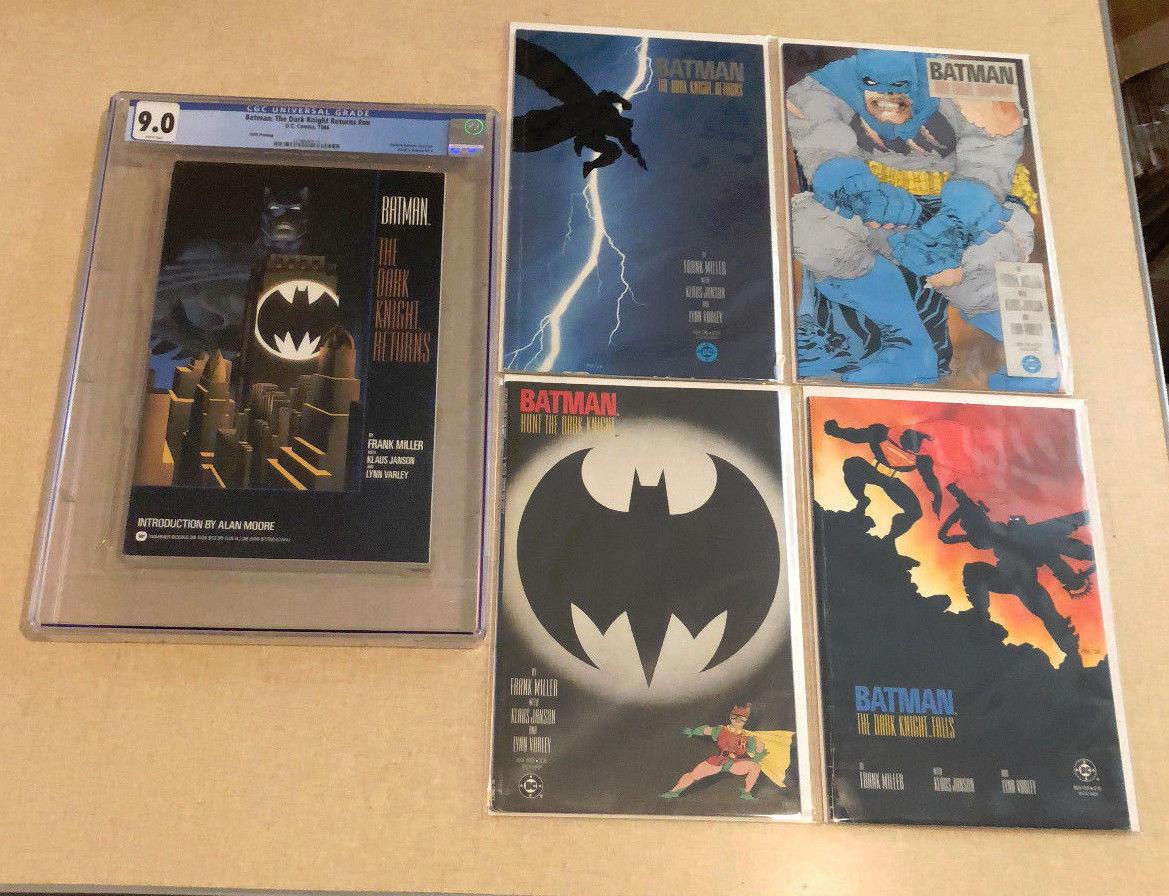 1986 BATMAN THE DARK KNIGHT RETURNS 1-4 DC COMICS SET MILLER with CGC TPB Joker