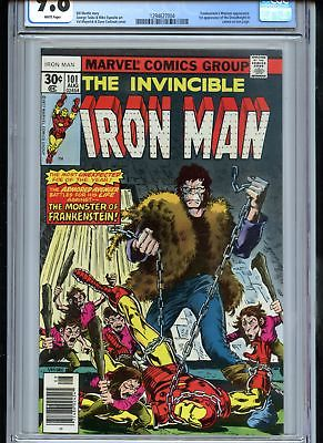 Iron Man #101 CGC 9.8 White Pages Frankenstein Monster