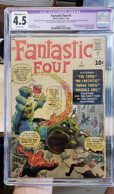 FANTASTIC FOUR #1 - Grade 4.5 - First appearance of the FANTASTIC FOUR