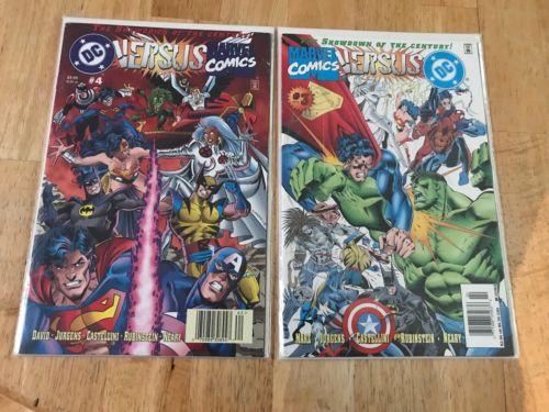 DC versus Marvel / Marvel versus DC #1, 2, 3, 4 (Feb 1996, DC & Marvel Comics)