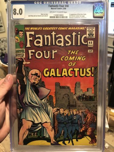 Marvel Fantastic Four 48 First Appearance Silver Surfer 1st App Cgc 8.0
