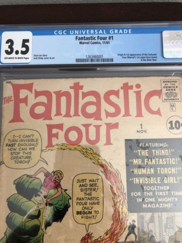1961 Fantastic Four #1  CGC 3.5 The Fantastic Four and Mole Man 1st App