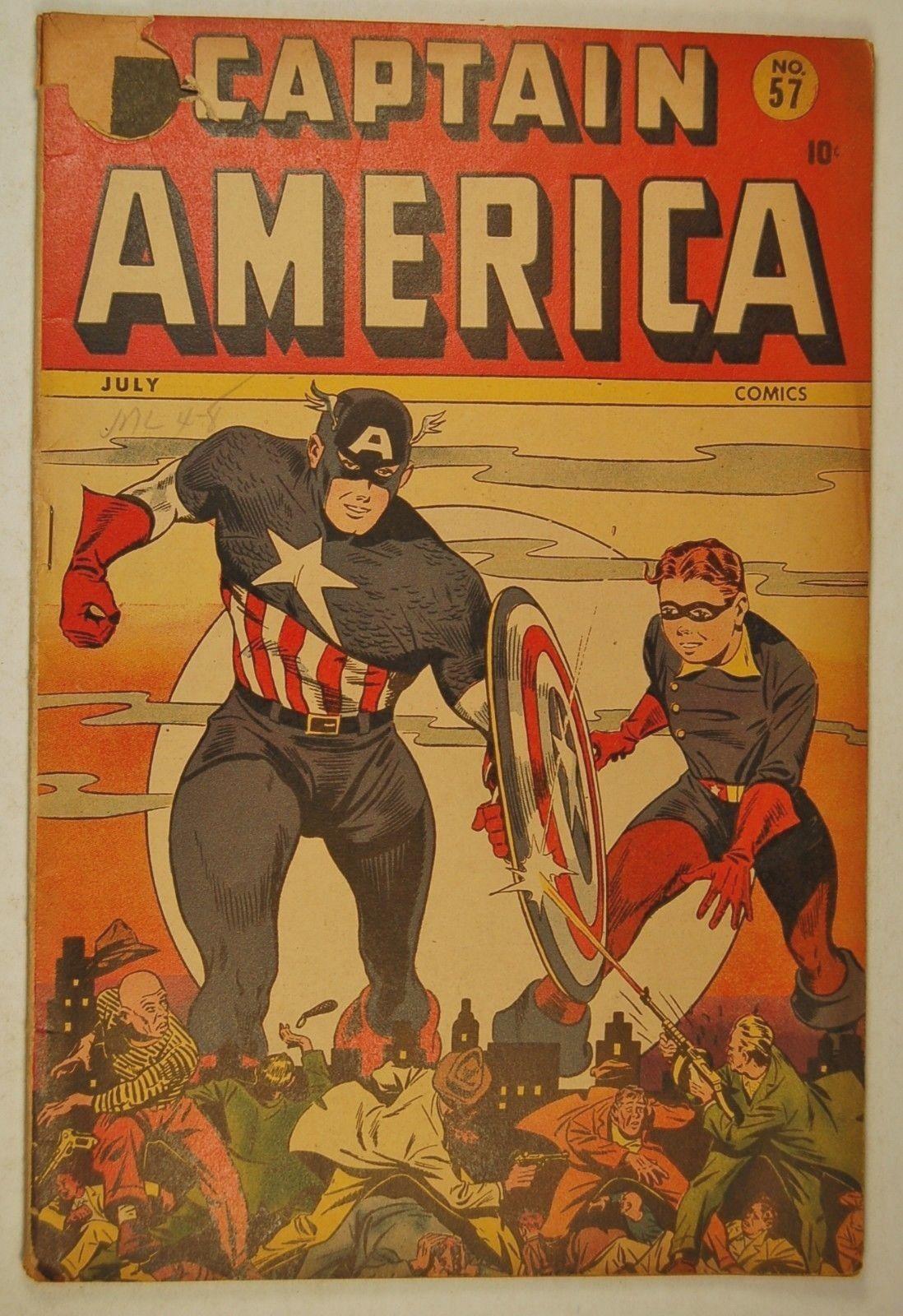 "Captain America Comics #57 (Jul 1946, Marvel) Human Torch in ""House that Haunts"""