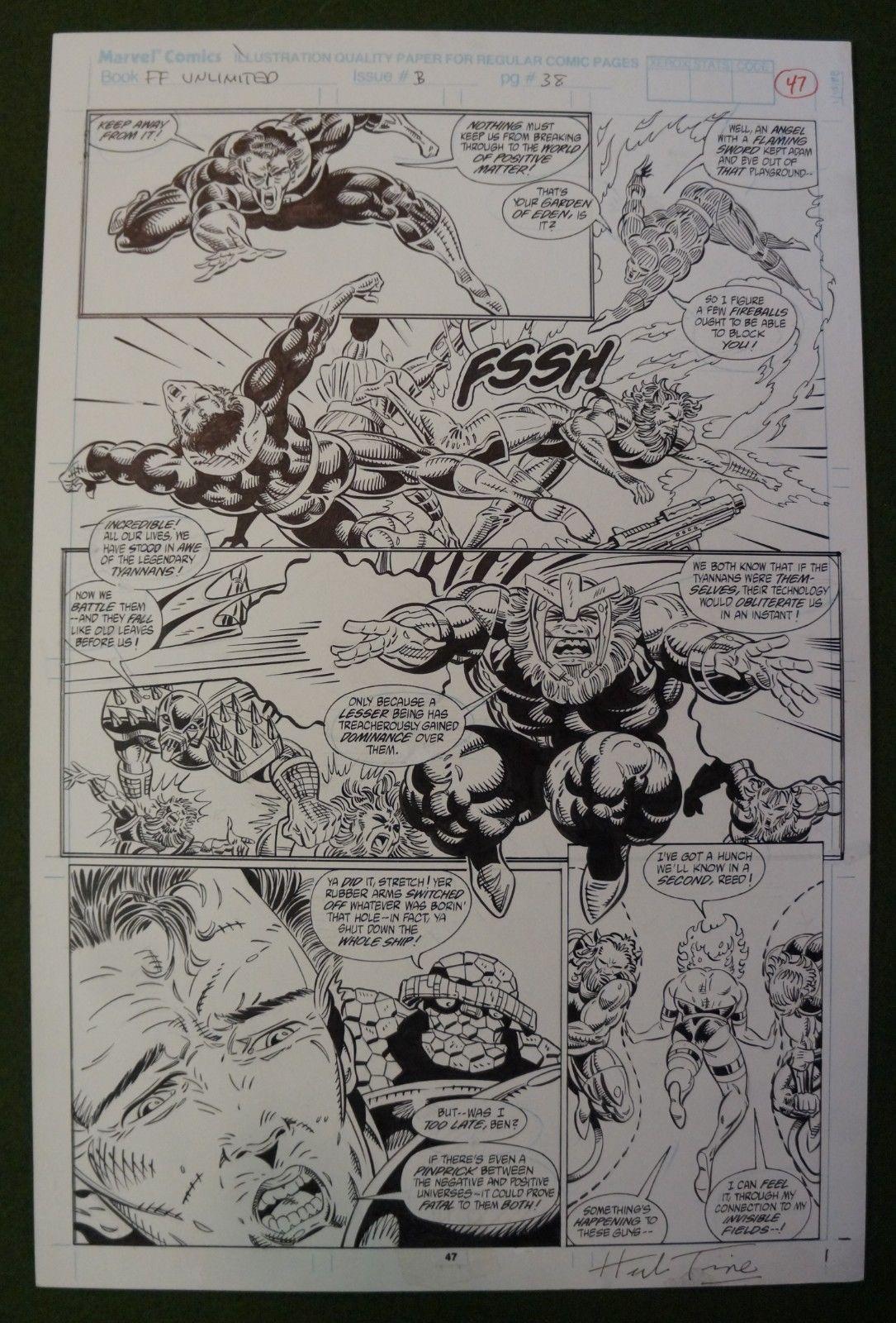 Fantastic Four Unlimited #3 pg 37 - HERB TRIMPE - Signed original art - 1993
