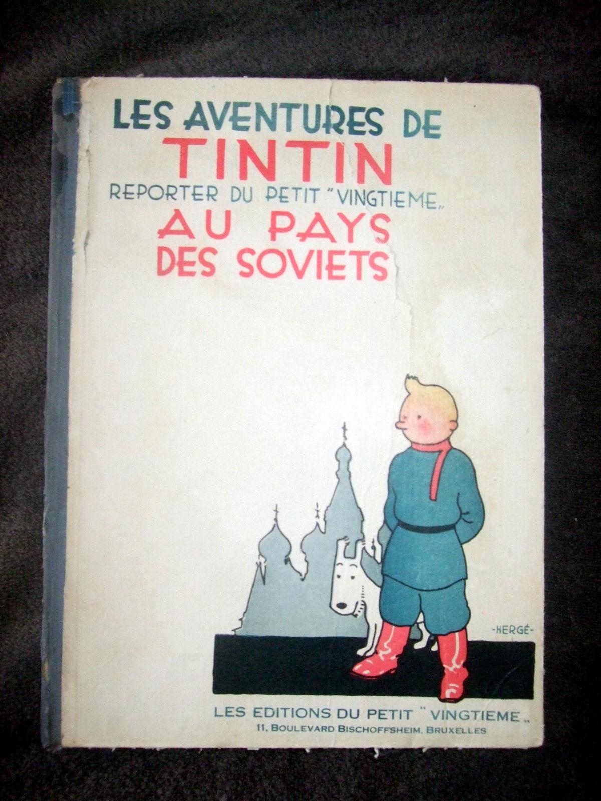 Tintin au pays des soviets  EO 1930 Noir et blanc/ 6 eme MILLE /BE-