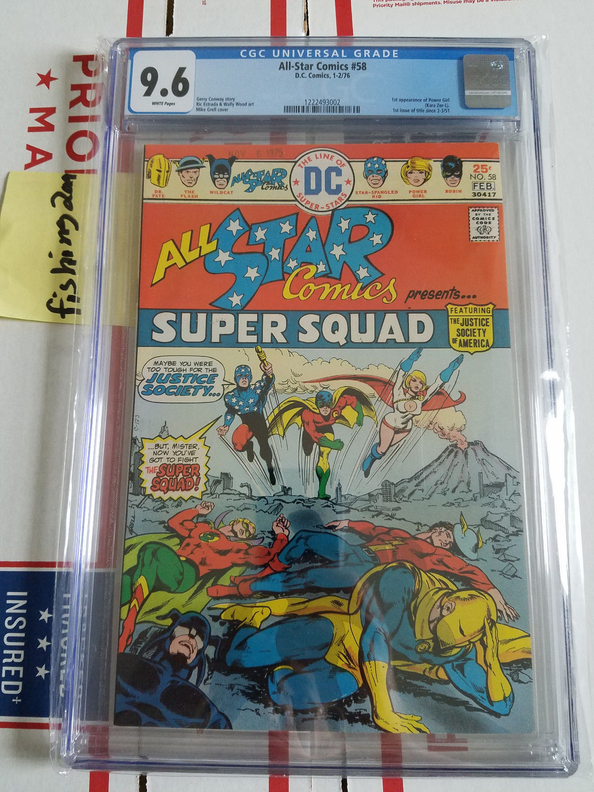 All-Star Comics #58 CGC 9.6 White Pages 1st Appearance of Power Girl not CBCS