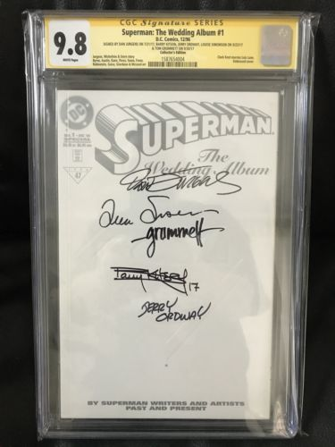 SS CGC 9.8 Superman The Wedding Album #1 (1996) SS5x Jurgens, Ordway, Grummett+2