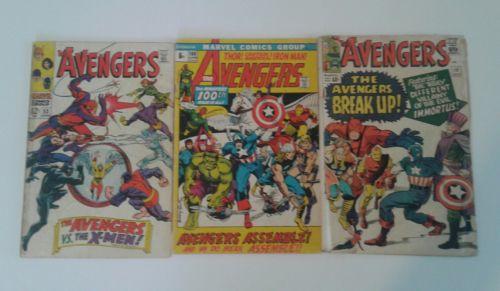 The Avengers #10 (Nov 1964, Marvel), Avengers 53, Avengers 100, comic lot