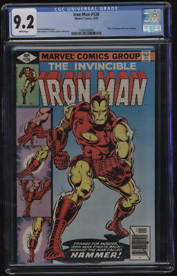 Iron Man #126 CGC 9.2 W Pages John Romita Jr Cover Art Classic Cover