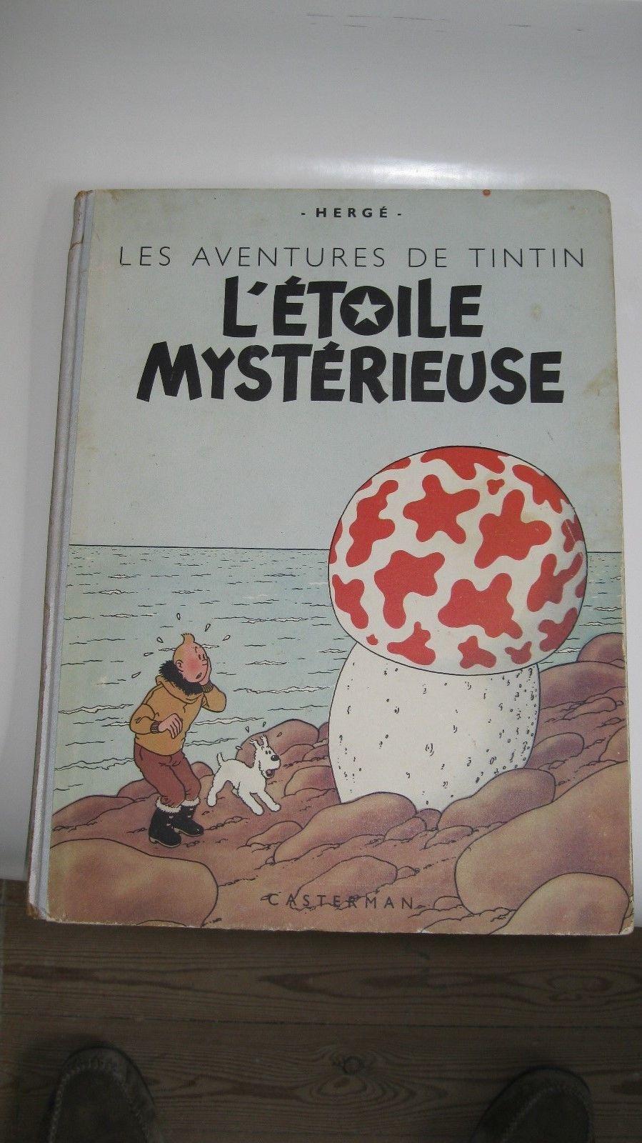 Tintin L'étoile mystérieuse B1 cartonné réédition-1946