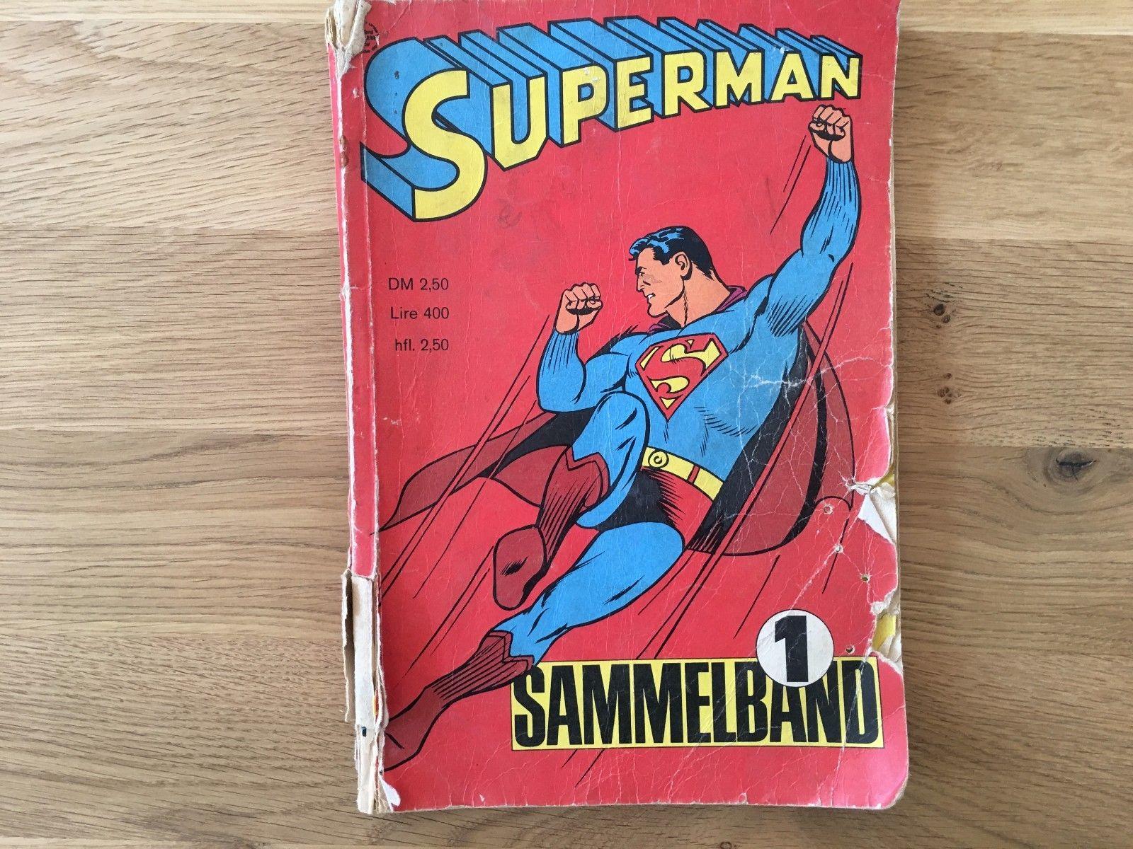 Superman SAMMELBAND # 1 mit Heft 1, 2, 3, 4 von 1966 Ehapa