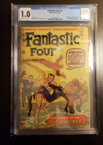 Fantastic Four #4 Cgc 1.0 1st Submariner RARE