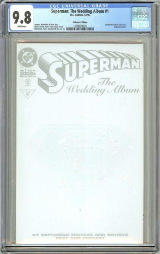 Superman The Wedding Album #1 CGC 9.8 White Pages (1996) 1299630020