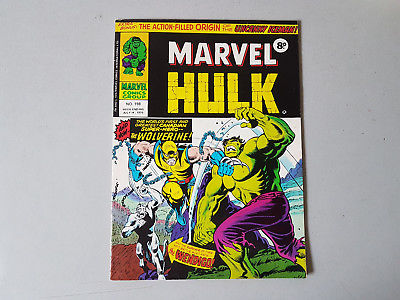 MIGHTY WORLD OF MARVEL COMIC No. 198 - Hulk - 1st Wolverine