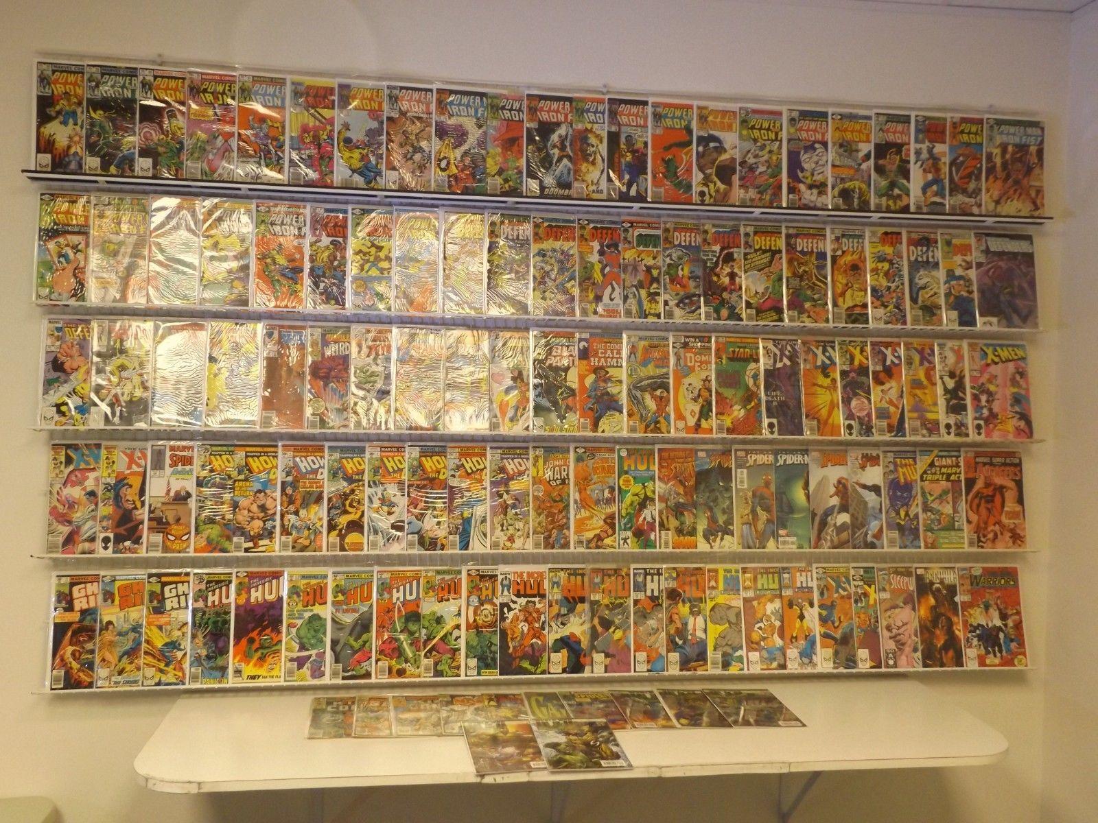 Huge Lot 120+ comics Power Man & Iron Fist, X-Men, Hulk & more avg FN/VF