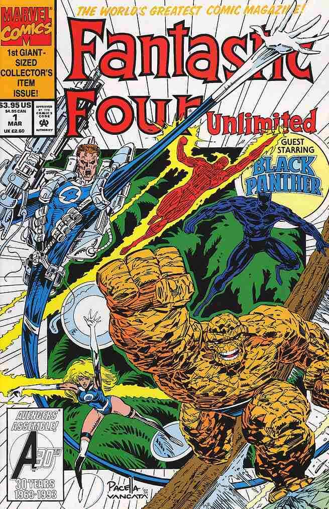 FANTASTIC FOUR UNLIMITED #1-12 VF/NM COMPLETE SET 1993 MARVEL COMICS MN-400