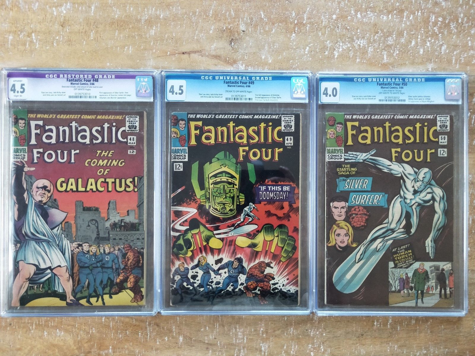 Fantastic Four 48, Fantastic Four 49, Fantastic Four 50 CGC Graded