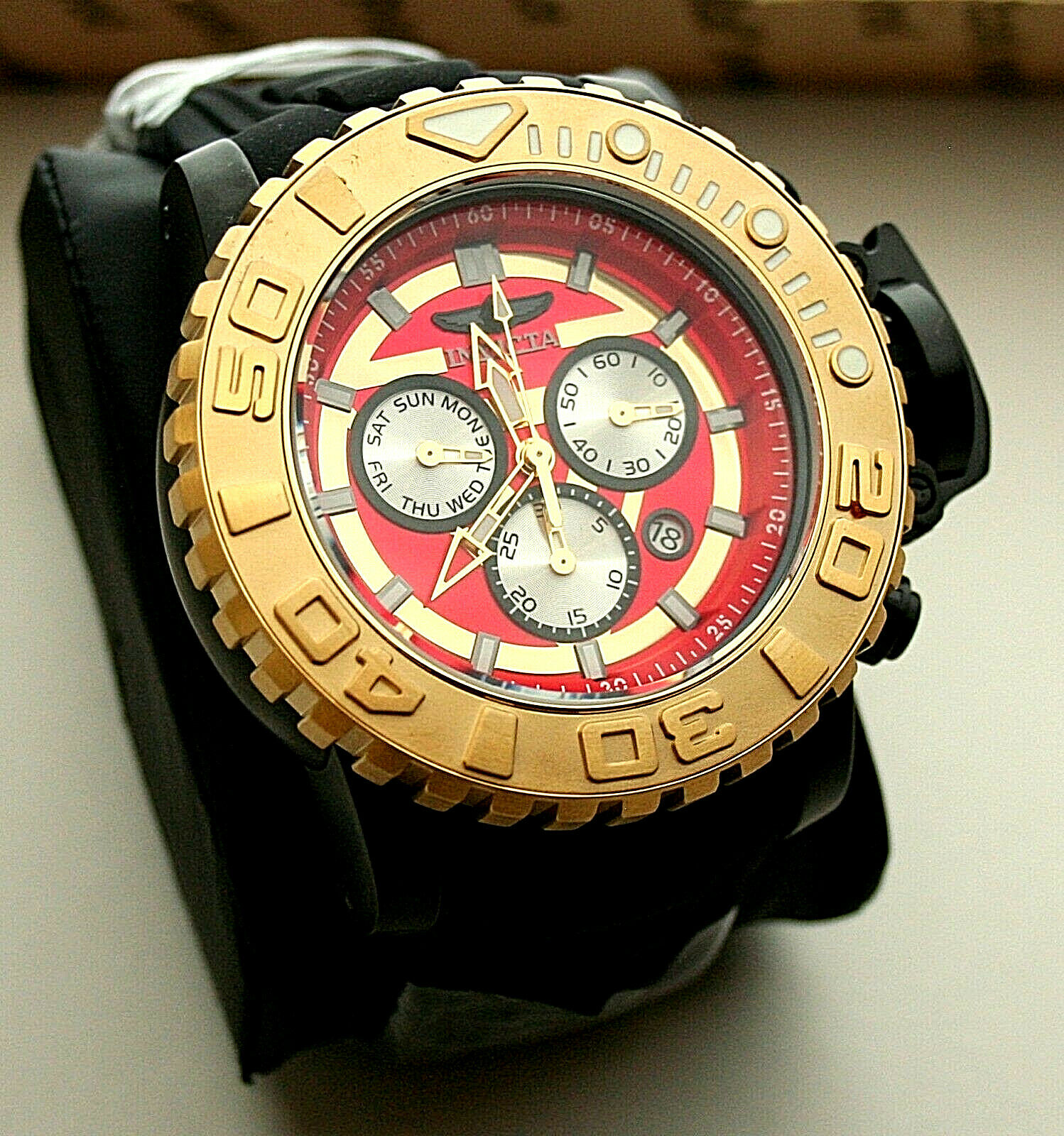 Marvel Comics Invicta 70mm Iron Man LE #122/3000 Sea Hunter Diver Watch New Box
