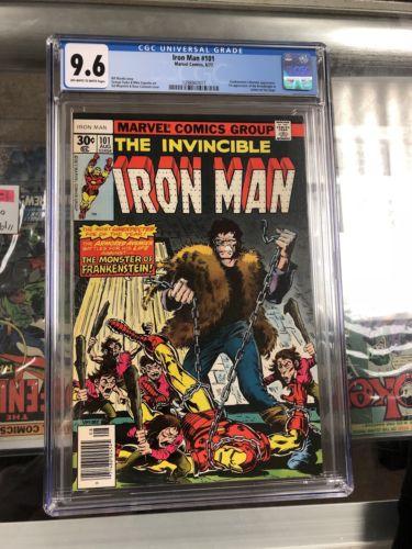 Iron Man #101 CGC NM 9.6 Marvel Conic Book First Dreadknight Appearance 1977 Key