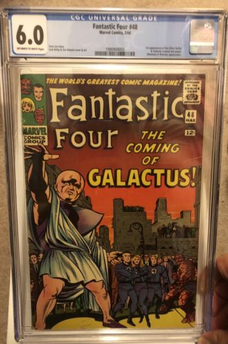 Fantastic Four 48 Cgc 6.0 OW-W Pages. First App Of Silver Surfer and Galactus