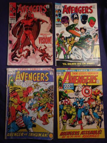 MARVEL AVENGERS comic comics 57 60 95 100 vision captain silver age hulk thor 12
