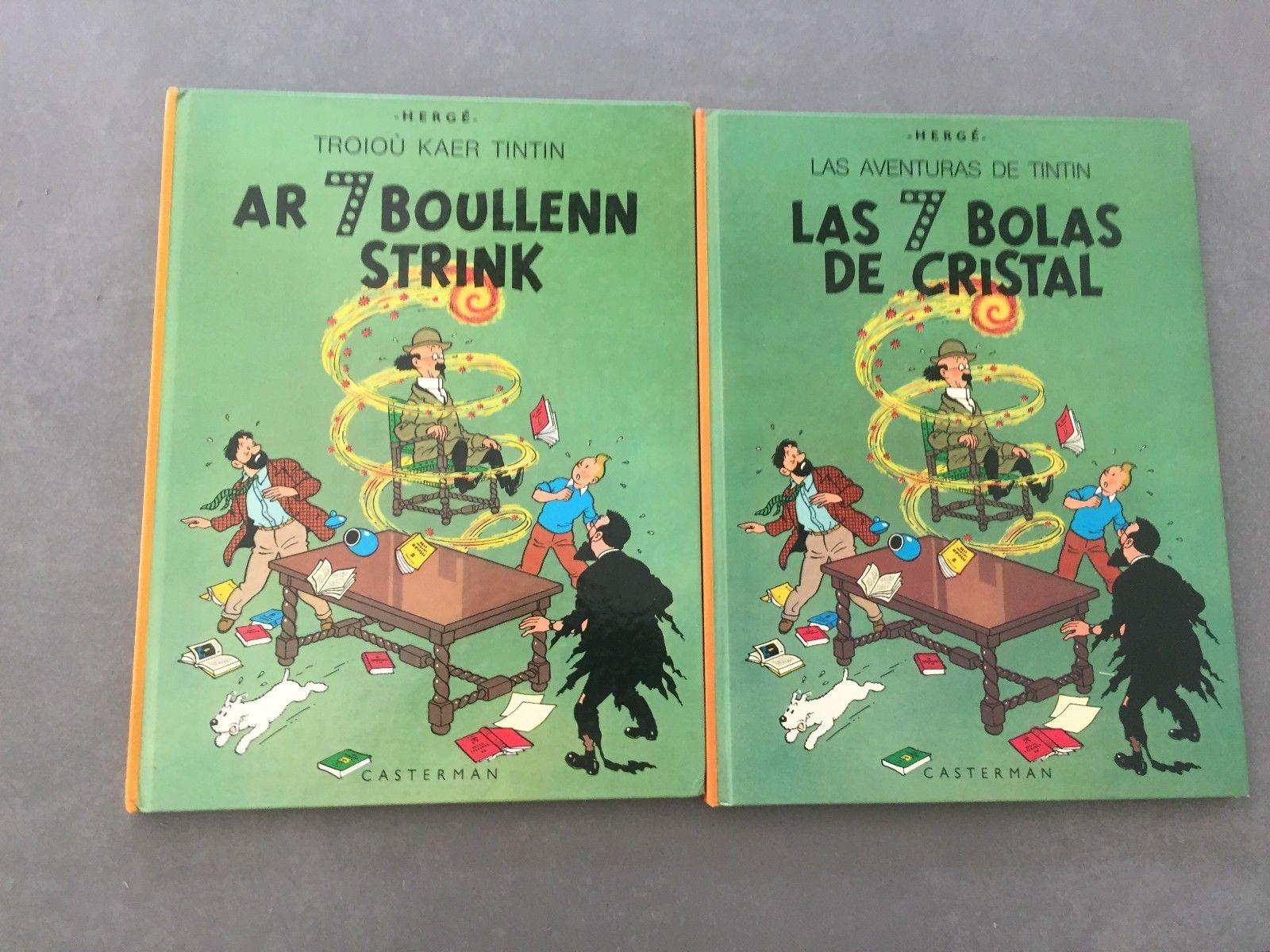 Tintin Les 7 Boules de Cristal éd. originale en Occitant et en Breton 1979