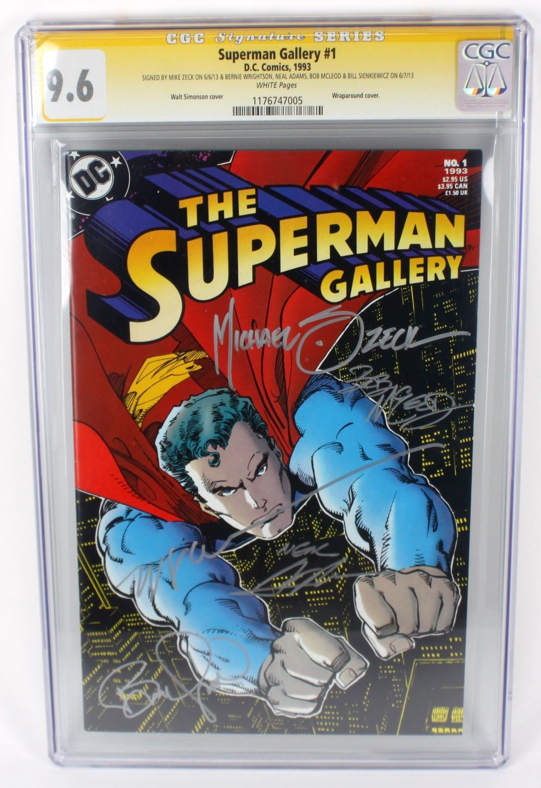SUPERMAN GALLERY #1 COMIC CGC SIGNATURE SERIES 9.6 SIGNED ADAMS ZECK AND MORE